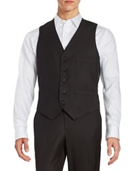 Kenneth Cole Reaction Textured Button Front Vest Charcoal