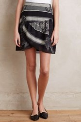 Anthropologie Jolla Mini Skirt Black Motif