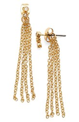 Women's Ettika Crystal Cluster Tassel Earrings Gold