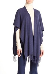 Joie Lucrece Wool And Cashmere Shawl Heather Midnight