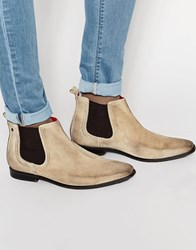 Base London William Suede Chelsea Boots Beige