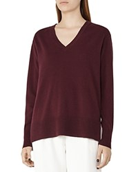 Reiss Selma Wool Blend Sweater Berry
