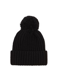 Max Mara Weekend Knitted Beanie Hat Black