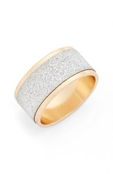 Women's Topshop Silver And Gold Glitter Ring Gold Multi