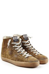 Golden Goose Francy Suede High Top Sneakers Brown