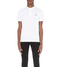 The Kooples Classic Fit Cotton Pique Polo Shirt Green Blue