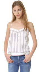 Elle Sasson Dian Top Ravello Red Blue Stripe
