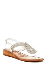 Naughty Monkey Alloy Mate Sandal White