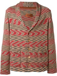 Missoni Buttoned Knit Jacket Red