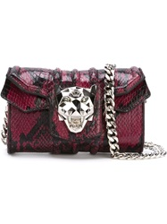 Philipp Plein 'Elena' Biker Shoulder Bag Pink And Purple