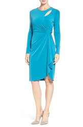 Catherine Malandrino Women's 'Gordon' Faux Wrap Sheath Dress Teal