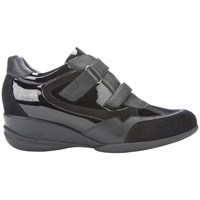 Geox Persefone Low Top Trainers Black Leather
