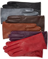 Charter Club Cashmere Lined Leather Tech Gloves Only At Macy's Gloxina