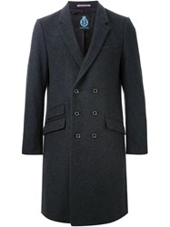 Guild Prime Double Breasted Overcoat Black