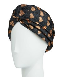 Gucci Lucina Metallic Heart Headband Black Copper