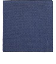 Simonnot Godard Men's Textured Diamond Pattern Pocket Square Blue