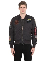Alpha Industries Ma 1 Pilot Bomber Jacket W Patches