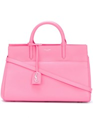 Saint Laurent Small 'Cabas Rive Gauche' Tote Pink And Purple