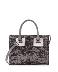 Charles Jourdan Niko 2 Floral Lace Satchel Bag Gray Floral