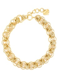 Moschino Vintage Chain Necklace Metallic