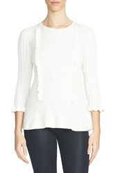 1.State Women's Ruffle Sweater