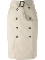 Each X Other Trench Skirt Nude And Neutrals