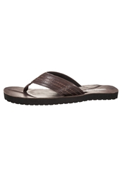 Pier One Flip Flops Dark Brown