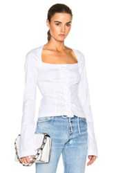 Tome Long Sleeve Corset Top In White