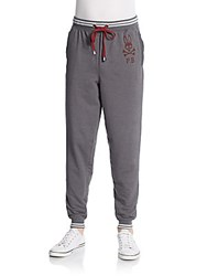 Psycho Bunny French Terry Lounge Pants Granite