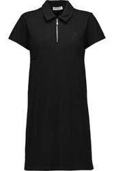 Opening Ceremony Torch Cotton Blend Pique Mini Dress Black