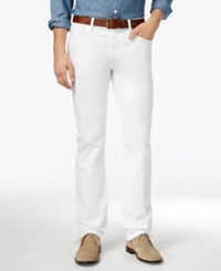 Tommy Hilfiger Men's Straight Fit White Jeans