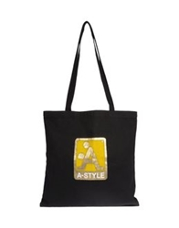 A Style Large Fabric Bags Black