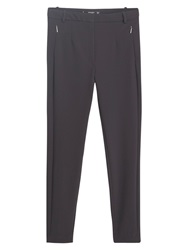Mango Stretch Trousers Black
