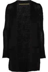 Enza Costa Knitted Cardigan Black