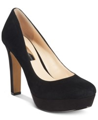 Inc International Concepts Women's Anton Velvet Platform Pumps Only At Macy's Women's Shoes Black Suede