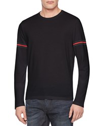 Gucci Jersey Web Long Sleeve Tee Black