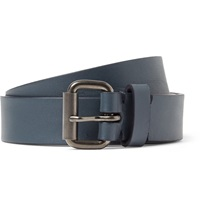 Alvaro Navy 2.5Cm Leather Belt Blue