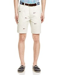 Vineyard Vines Embroidered Whale Chino Shorts Navy