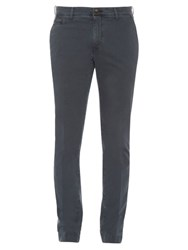 Jacob Cohen Slim Fit Cotton Blend Chino Trousers Navy