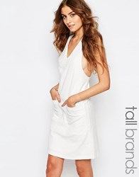 Y.A.S Tall Foral Jacquard Shift Dress White