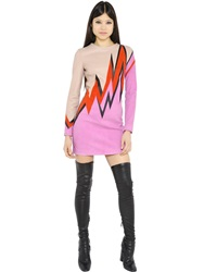 Emilio Pucci Suede And Nappa Leather Dress Beige Pink