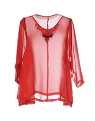 Le Ragazze Di St. Barth Shirts Blouses Women Red