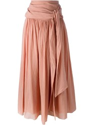 Forte Forte Tie Waist Maxi Skirt Pink And Purple
