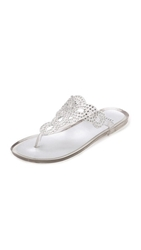 Stuart Weitzman Mermaid Jelly Thong Sandals Clear