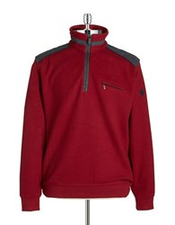 Bugatti Quarter Zip Sweater Red