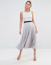 Coast Jenna Pleated Culotte Jumpsuit Grey Siler