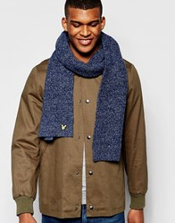 Lyle And Scott Knitted Scarf Blue
