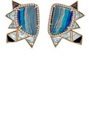 Nak Armstrong Women's Mixed Gemstone Geometric Ear Jackets Colorless