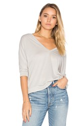 Chaser Double V Dolman Tee Gray