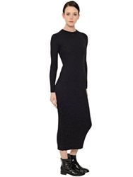 Courreges Ribbed Merino Wool Stretch Knit Dress